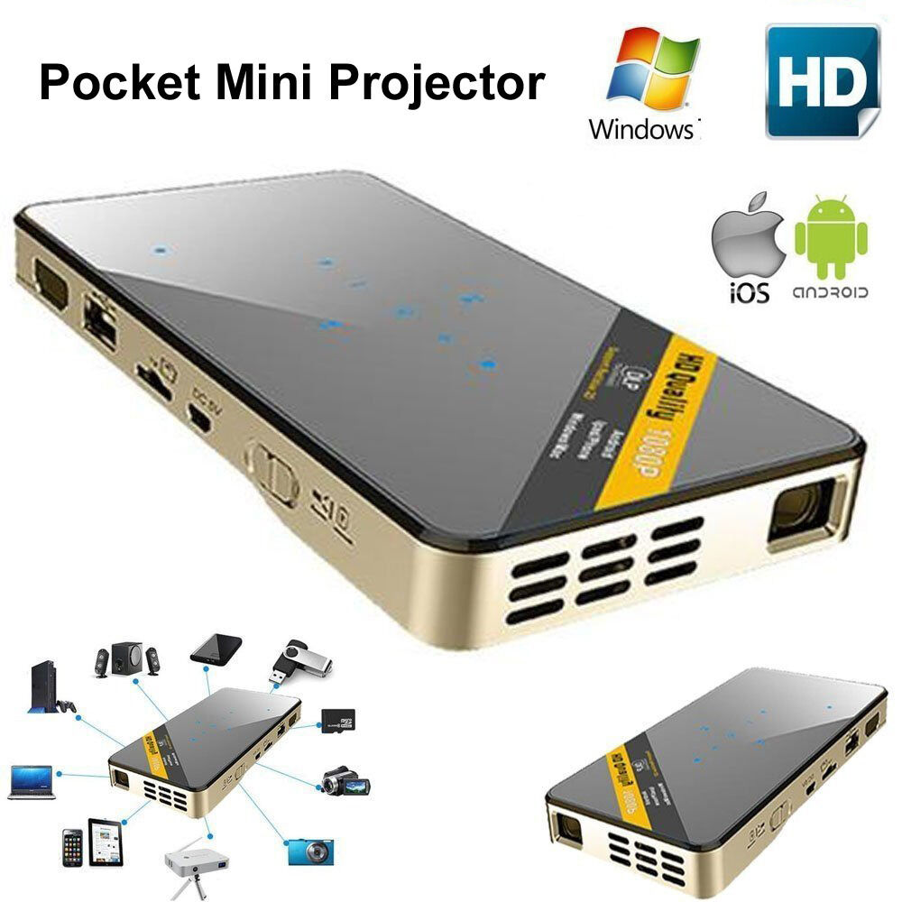 Mini led dlp wifi pocket projector miracast for ios for Where to buy pocket projector
