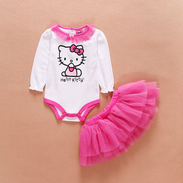 Newborn Baby Girl Clothes Infant Princess Hellokitty