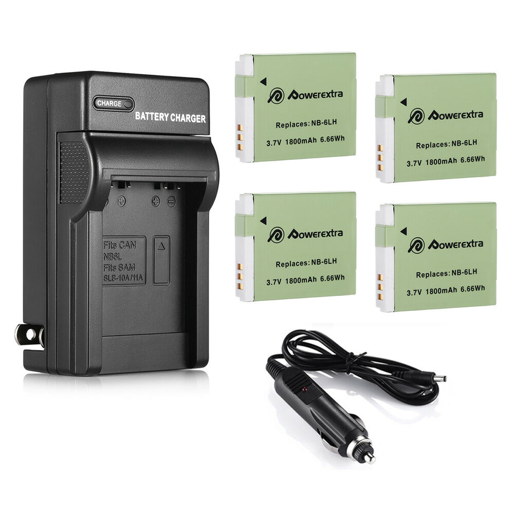 Nb 6l Battery Charger For Canon Powershot D10 Sd1300 Sx500