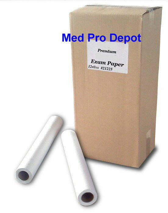 Case of 12 medical exam table paper 12 rolls per case ebay for 1 case of table paper