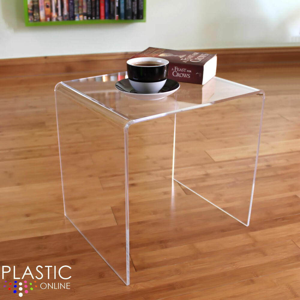 Clear Acrylic Plastic Table Bedside Table Coffee Table