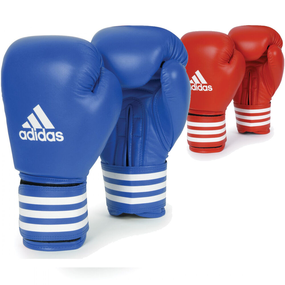 Boxing Gloves: Adidas Boxing Leather Competition Training Gloves