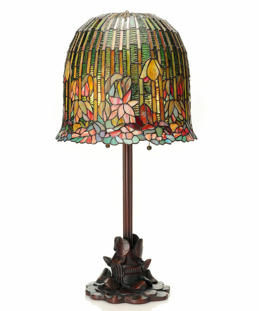 29 tiffany style pond lily hanging lotus table lamp 13829 stained. Black Bedroom Furniture Sets. Home Design Ideas