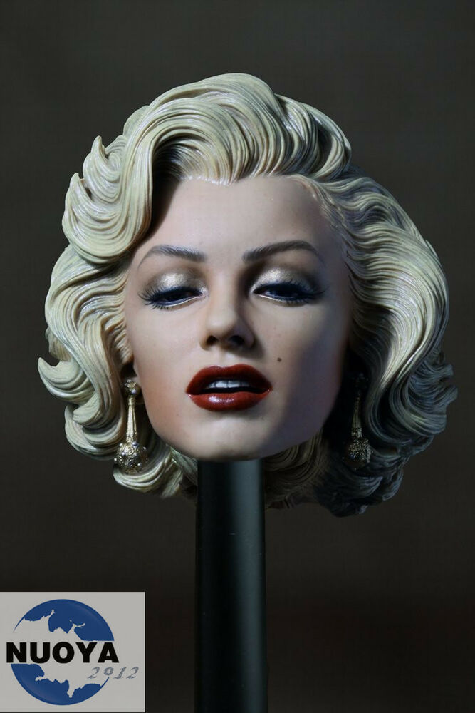 16 Scale Marilyn Monroe Head Sculpt Painted For 16 -7559
