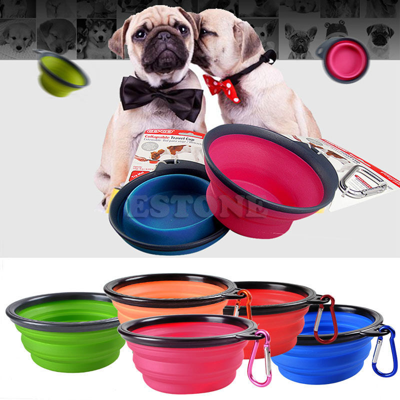 The Portable Pet Water: Portable Foldable Collapsible Pet Cat Dog Food Water