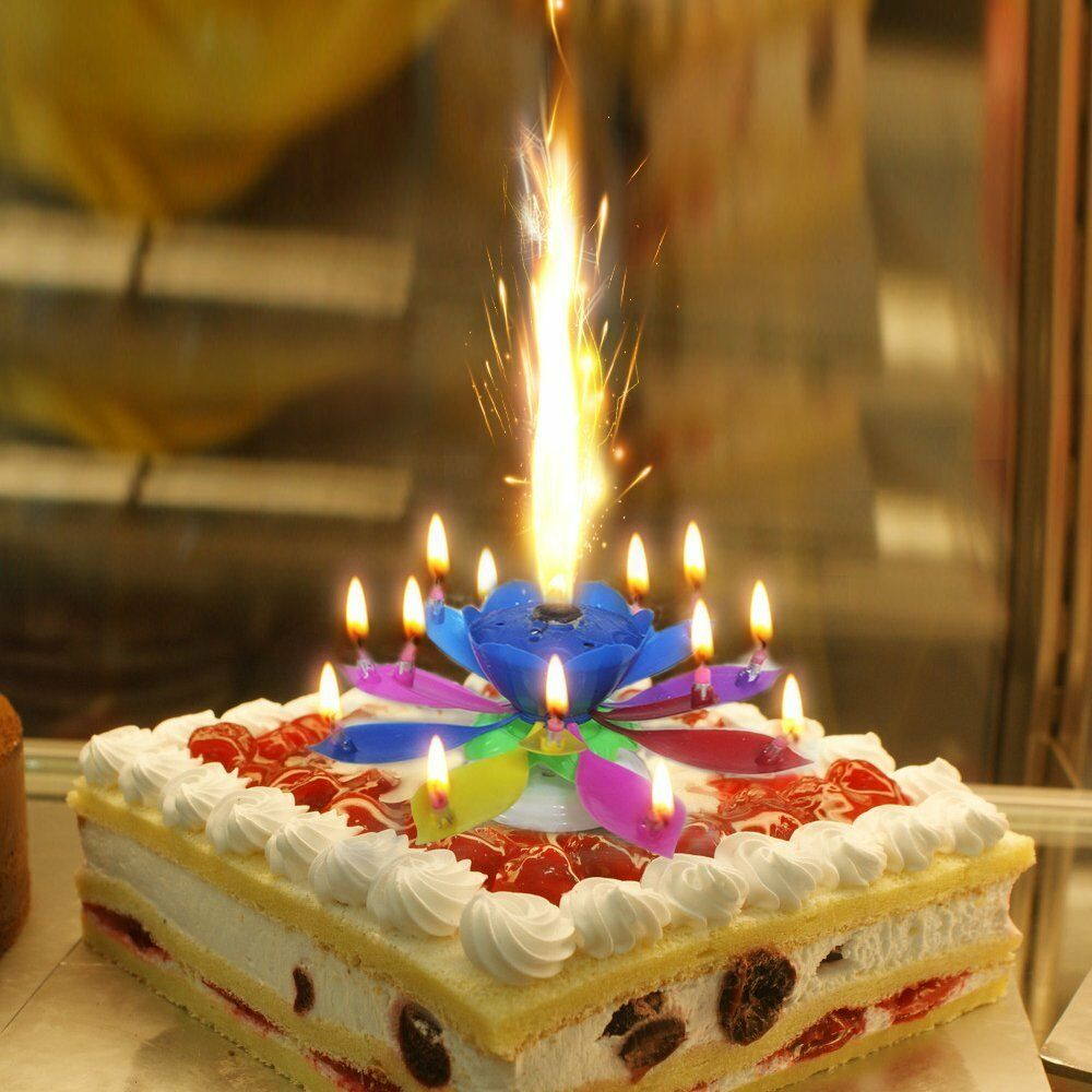 Happy Birthday Cake Topper Candle Music Birthday Candle