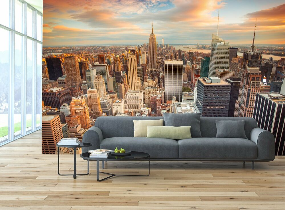 New york city photo wallpaper decor paper wall background for New york city decor