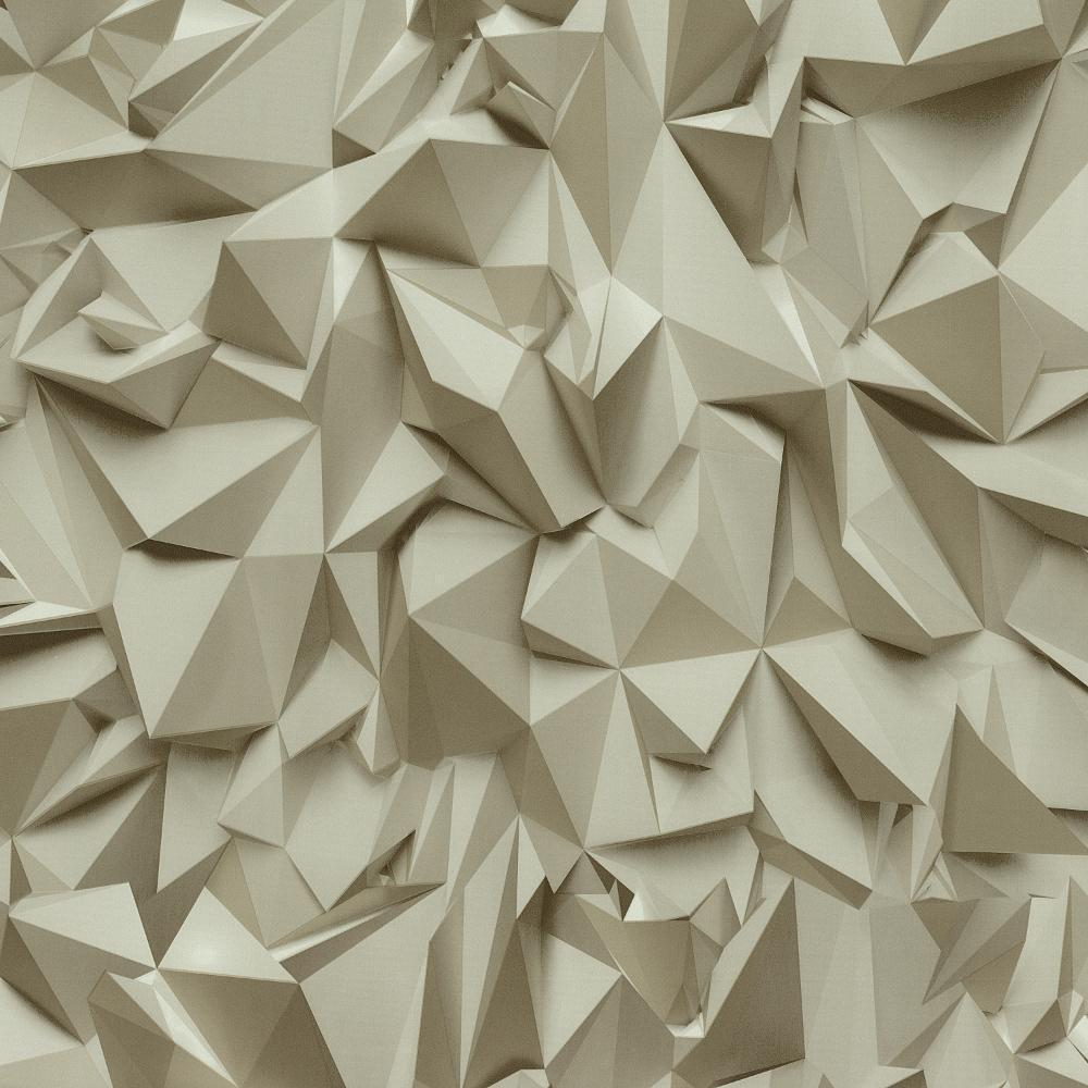 3D EFFECT TRIANGLE PATTERN GEOMETRIC NON WOVEN TEXTURED