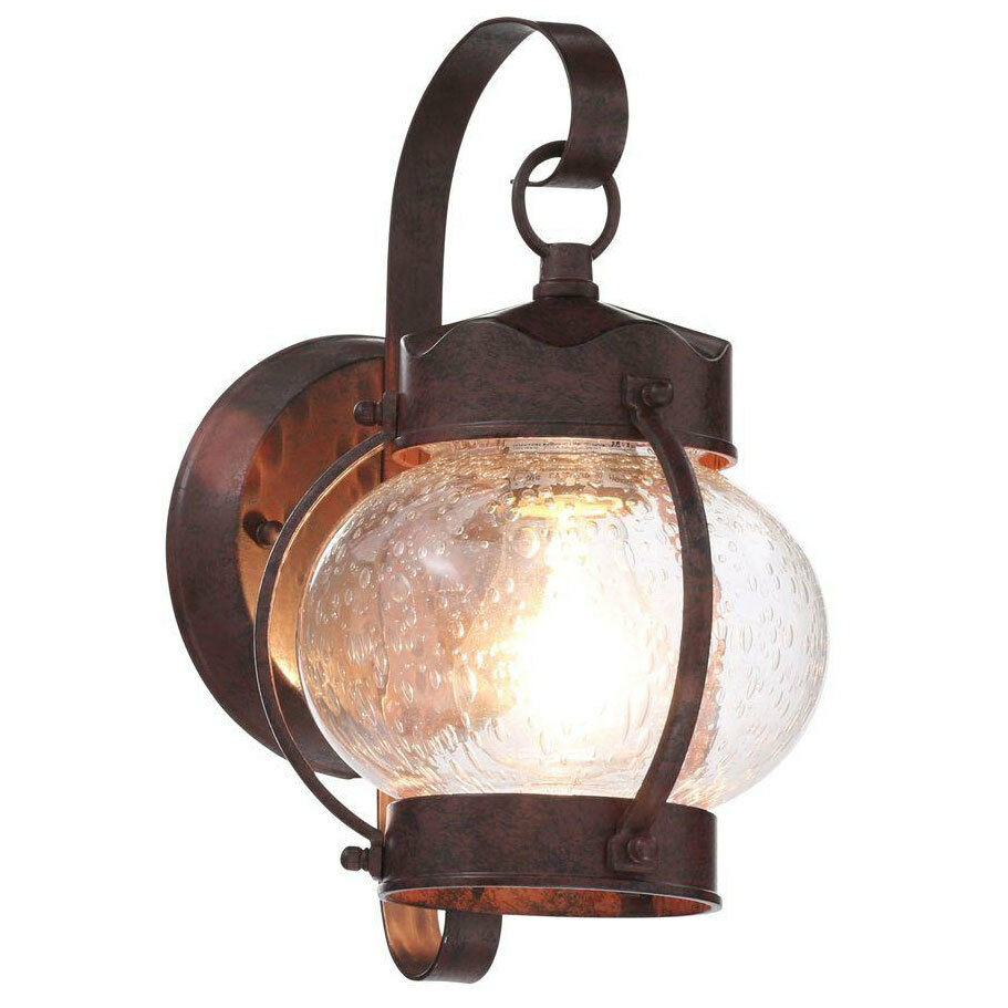 Old bronze outdoor wall mount lantern exterior porch patio for Outdoor yard light fixtures