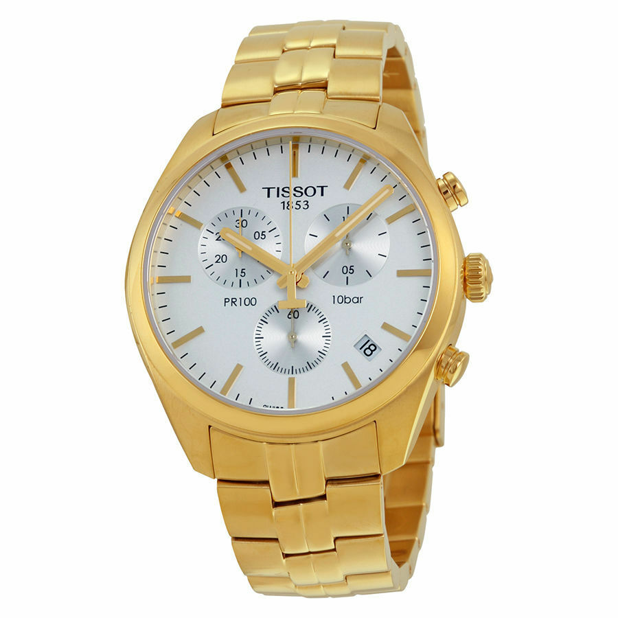 New Tissot PR100 Chronograph Gold-Tone Stainless Steel ...