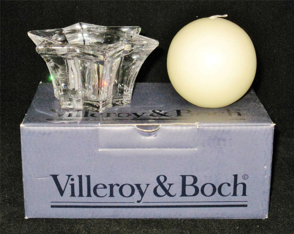 Villeroy boch lucca crystal candlestick or votive and for Villeroy boch crystal
