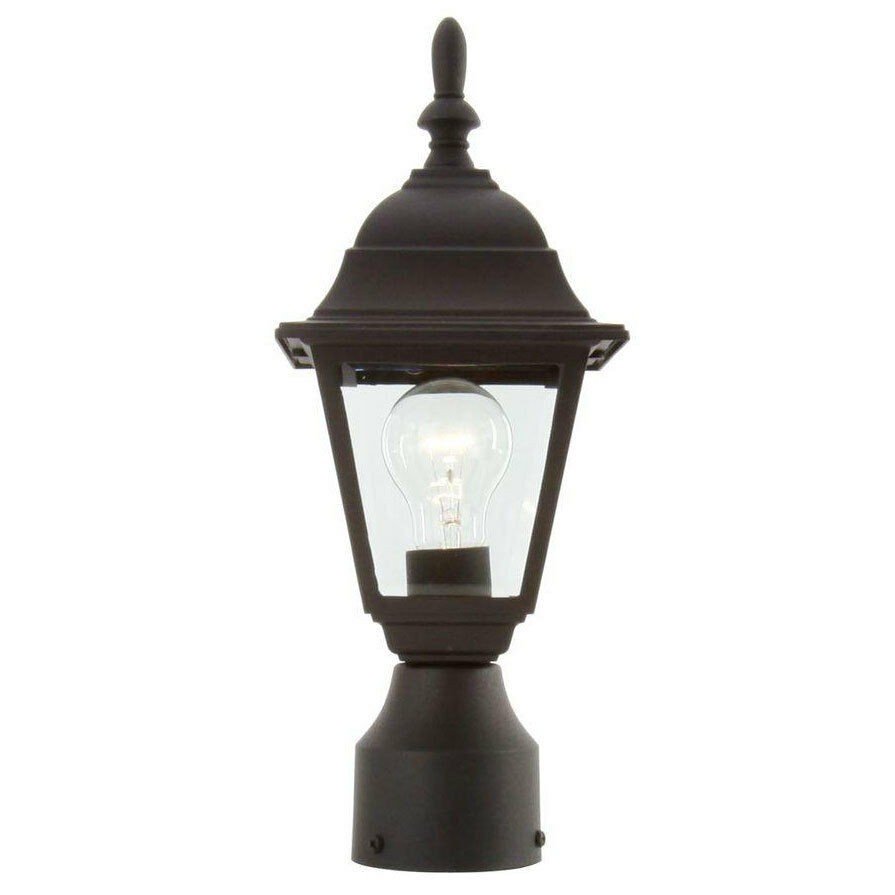 Black Outdoor Post Lamp Pole Driveway Lighting Garden Porch Yard Fixture Lant