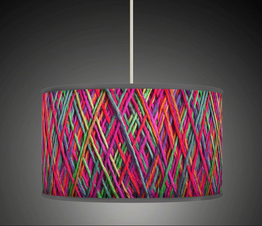 40cm string effect geometric handmade giclee style - Como hacer lamparas ...