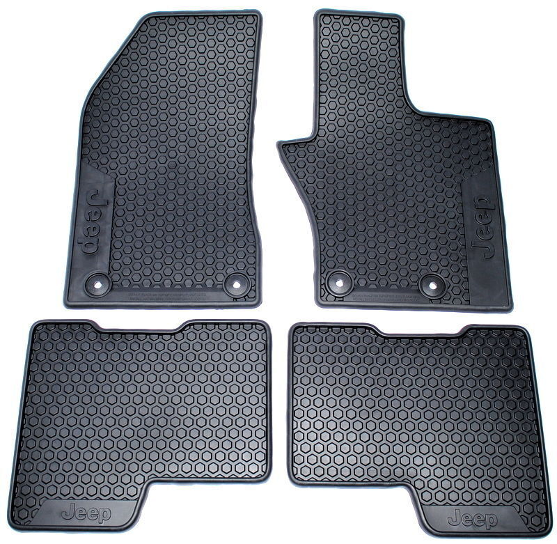 Jeep Renegade Set Of 4 Rubber Plastic Floor Mats New