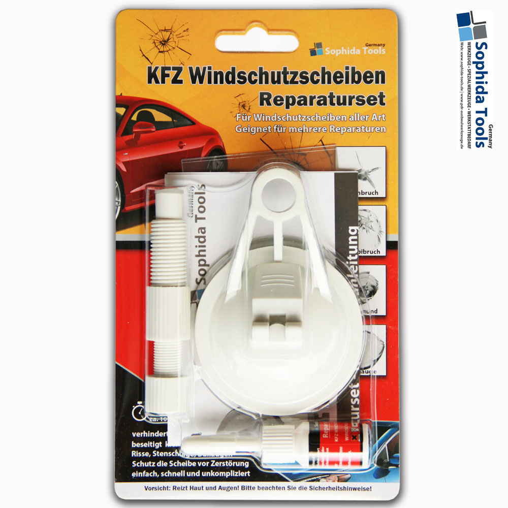 kfz steinschlag reparaturset windschutzscheibe anleitung windshield repair set ebay. Black Bedroom Furniture Sets. Home Design Ideas