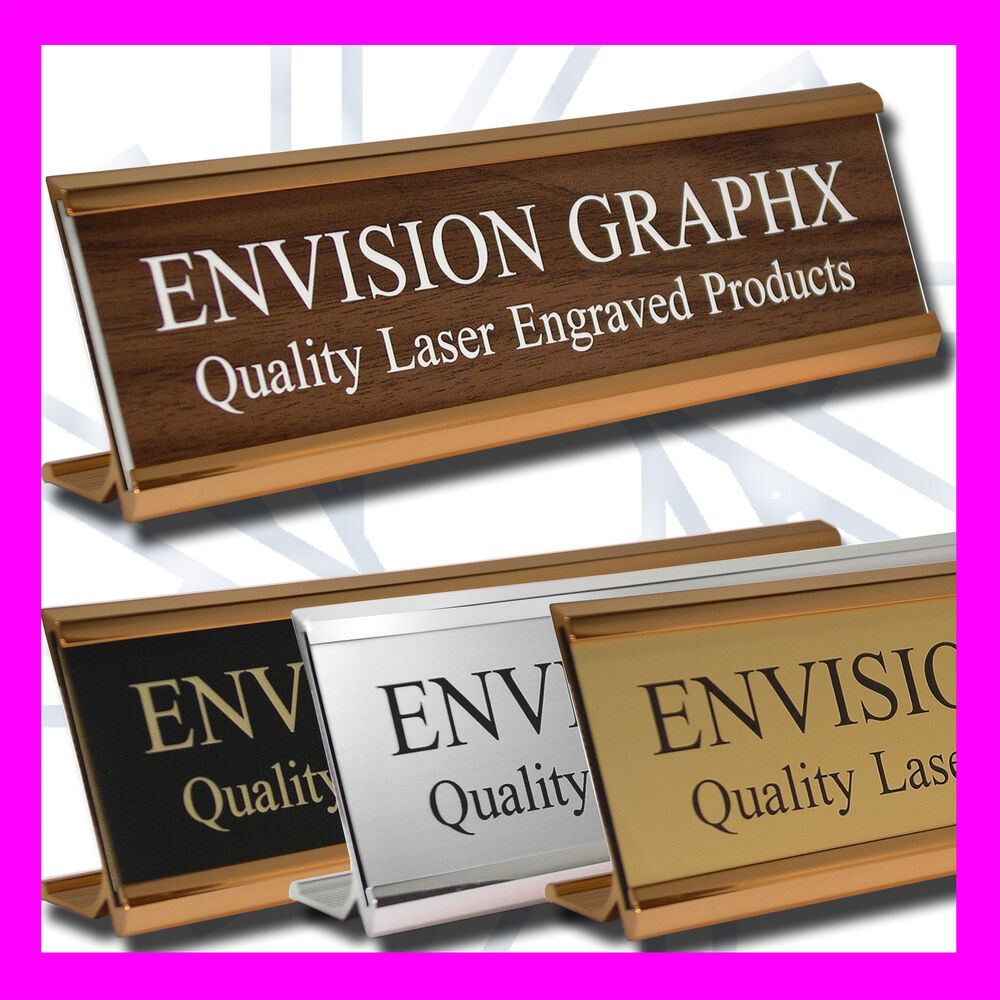 2x8 Personalized Custom Engraved Wall Door Desk Name