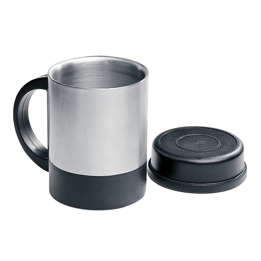 insulated 360ml stainless steel mug travel camping coffee tea cup with lid ebay. Black Bedroom Furniture Sets. Home Design Ideas