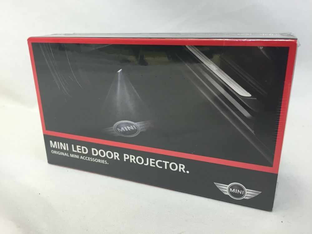 Oem Mini Cooper Led Door Projector Wings Checkered Flag
