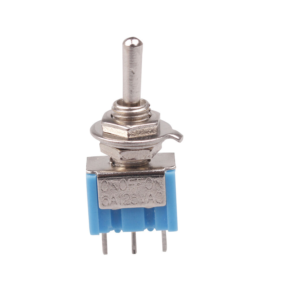4 Pcs Blue AC 125V 6A 3 Pin SPDT ON/OFF/ON 3 Position Mini ...