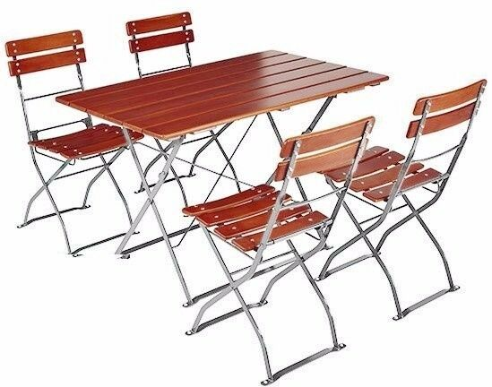 outdoor indoor bistro folding table and chairs european quality ebay. Black Bedroom Furniture Sets. Home Design Ideas