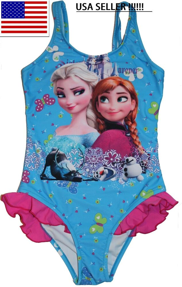 Disney S Frozen Anna Elsa Olaf Snowflake One Piece Girls