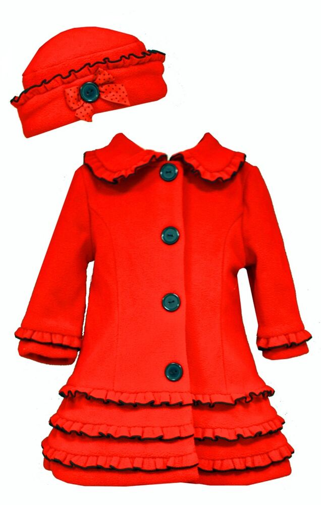 Bonnie Jean Baby Girls Red Holiday Christmas Coat Amp Hat