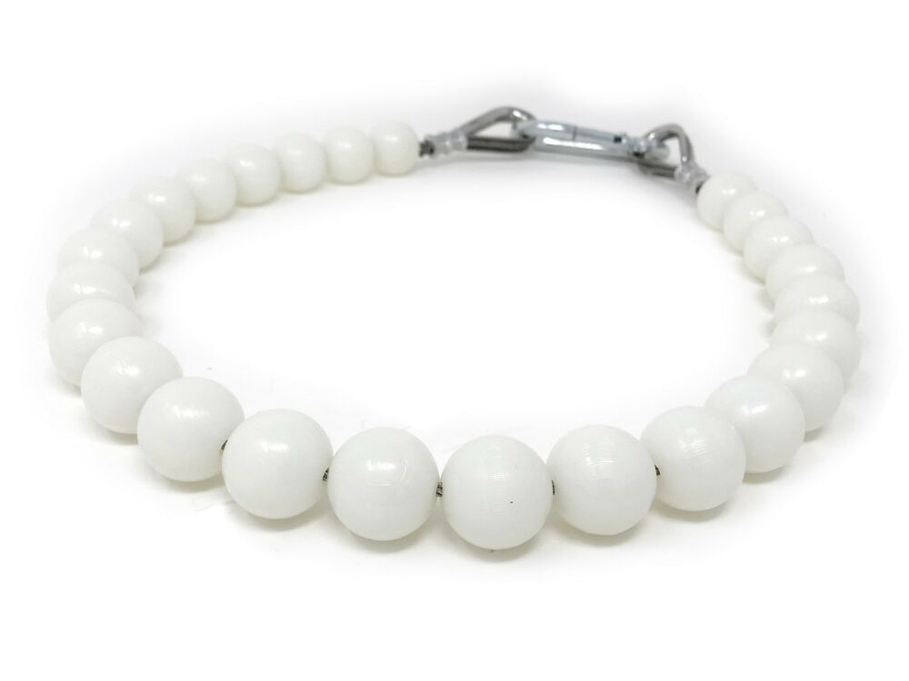Flagpole Beaded White Retainer Rings Slings Counterweights