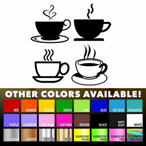 Tea coffee cups for kitchen wall shop sticker wall art for Tea and coffee wall art