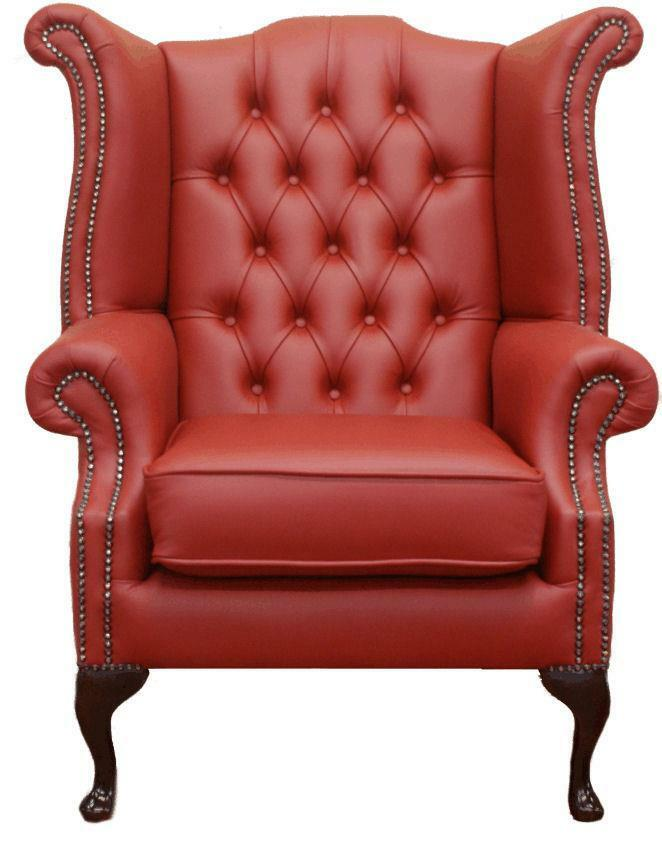 Chesterfield Armchair Queen Anne High Back Wing Chair ...