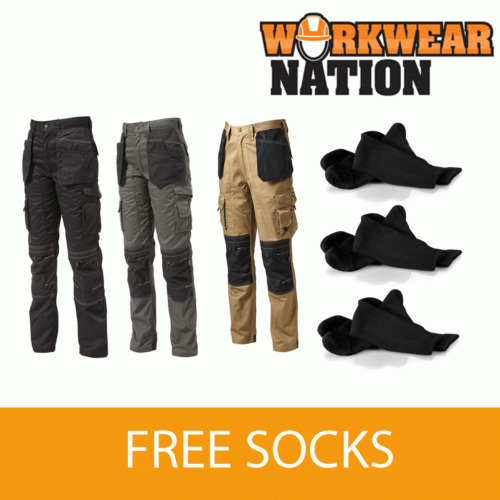 Apache Holster Knee Pad Trouser Workwear Work Cordura APKHT - FREE SOCKS