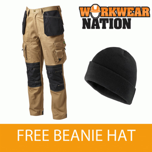 Apache Holster Knee Pad Trouser Workwear Work Cordura APKHT- STONE - FREE HAT