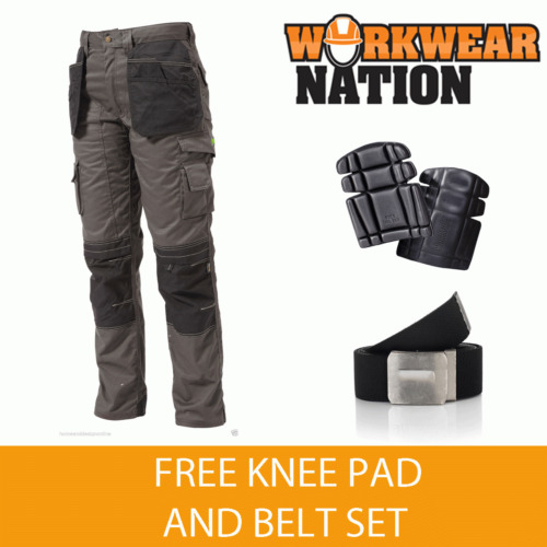 Apache Holster Knee Pad Trouser Work Cordura APKHT GREY FREE KNEE PAD & BELT