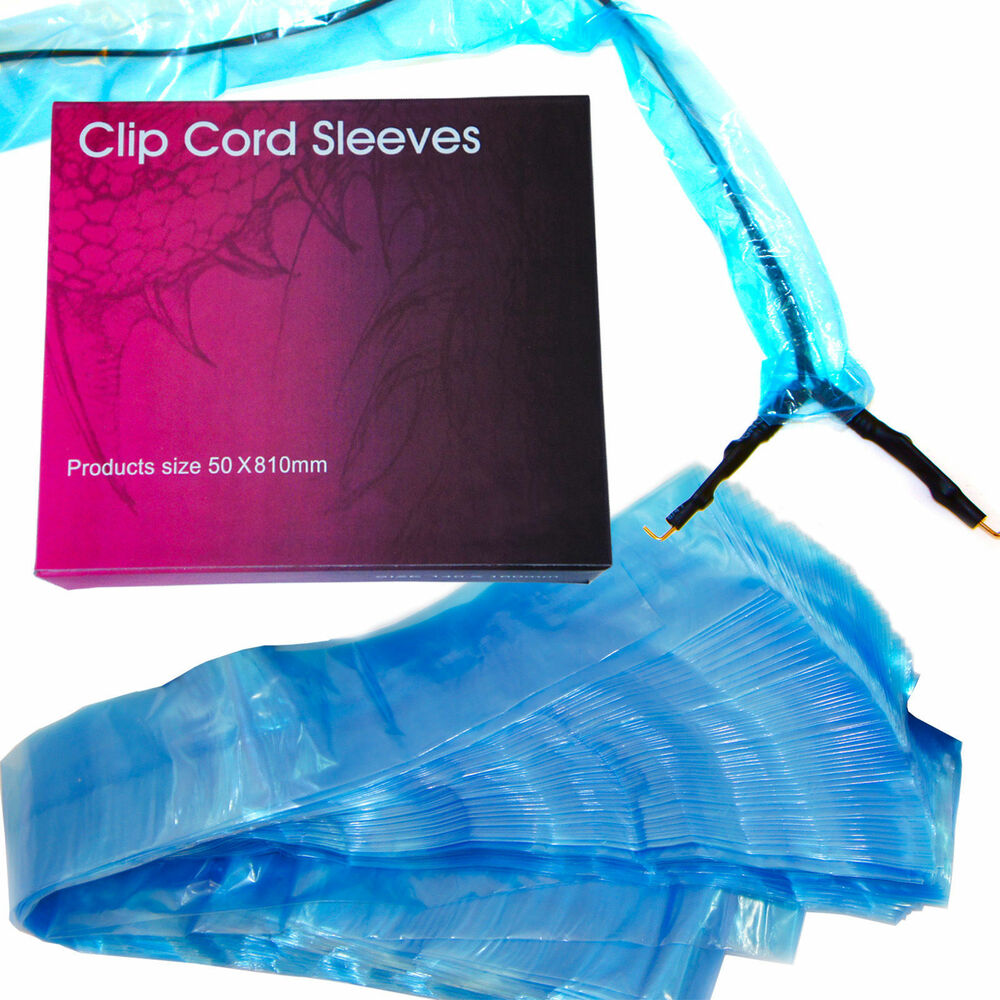 125pcs disposable tattoo clip cord blue plastic covers sleeves cleaning supply ebay. Black Bedroom Furniture Sets. Home Design Ideas