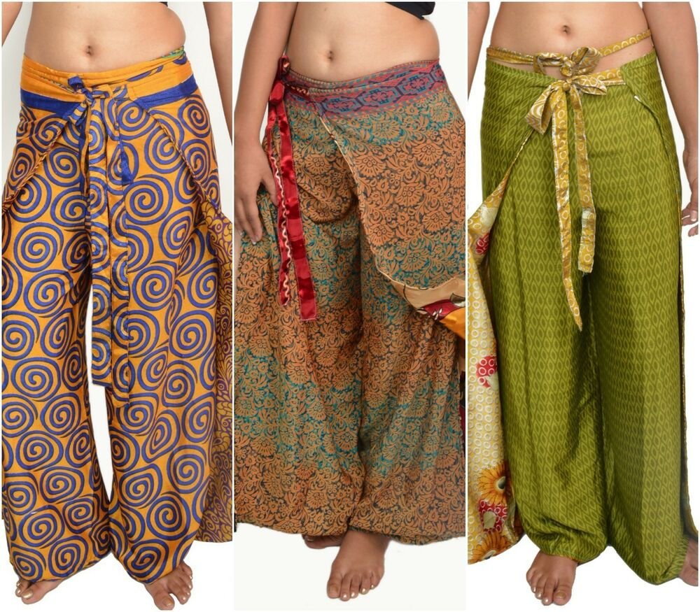 5 new style thai fish wrap around pants for women ebay for Womens fishing shorts
