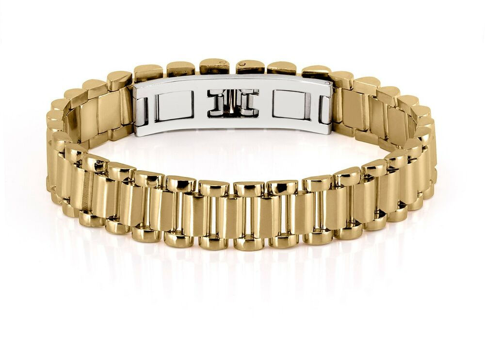 Mens Bracelet 70 Grams 14k Solid Yellow Gold Jubilee Best ...
