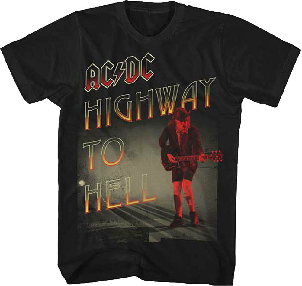 Official Ac Dc Highway To Hell Adult T Shirt Acdc Rock