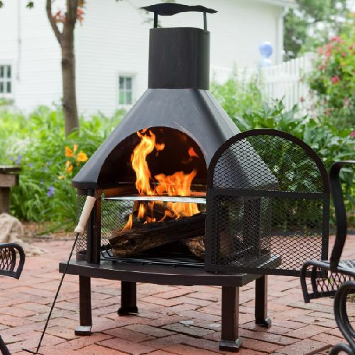 Outdoor Fireplace Patio Fire Pit Wood Burning Pit Chiminea