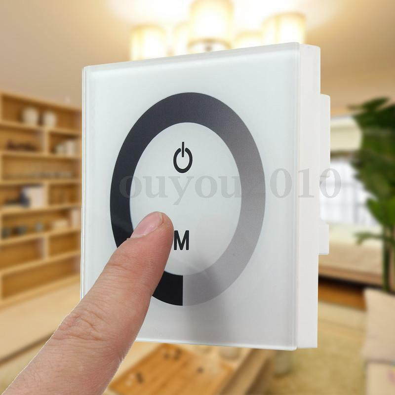 single color touch panel dimmer wall switch controller led light strip dc 12 24v ebay. Black Bedroom Furniture Sets. Home Design Ideas
