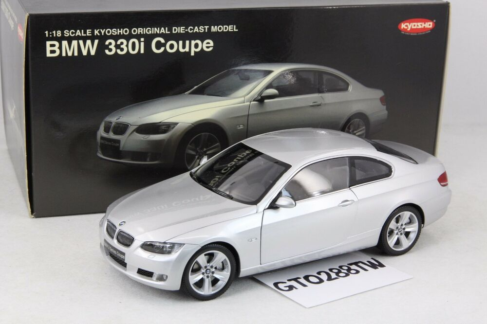 kyosho 1 18 scale bmw e92 3er 330i coupe 2007 silver ebay. Black Bedroom Furniture Sets. Home Design Ideas