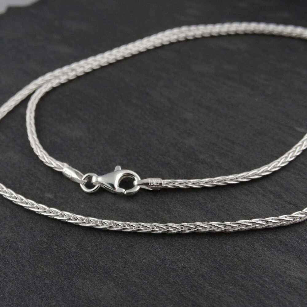 Sterling Silver 1.8mm SPIGA Wheat Chain Necklace