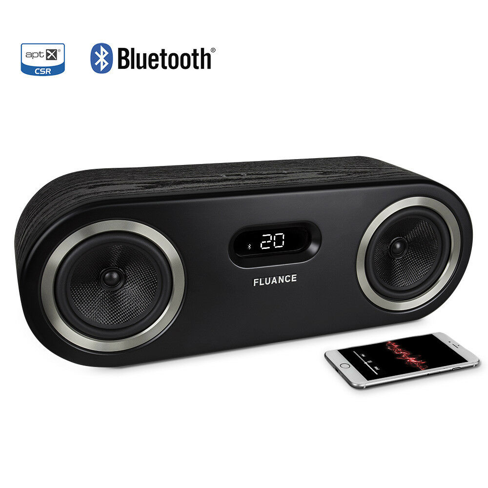 fluance fi50 two way high performance wireless bluetooth wood speaker system ebay. Black Bedroom Furniture Sets. Home Design Ideas