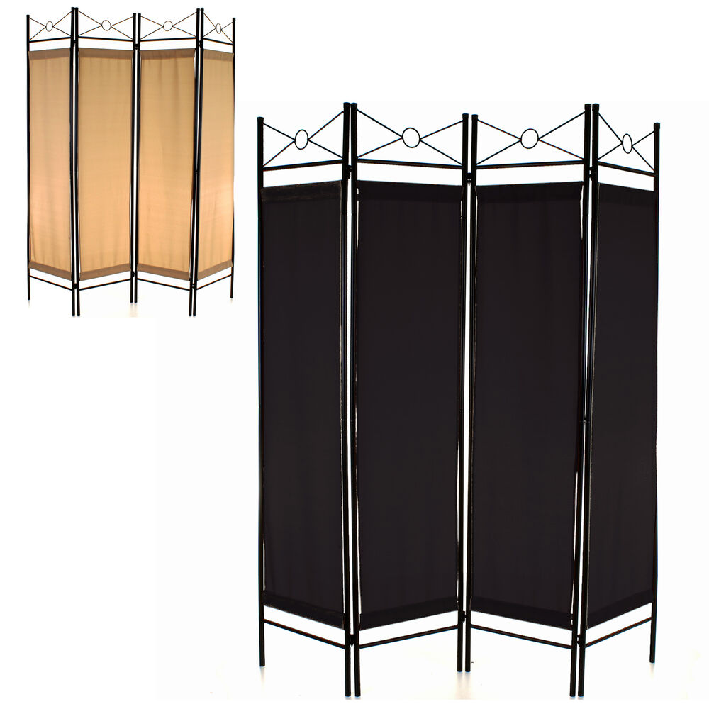 Folding room divider 4 panel screen privacy wall movable for Wall separator