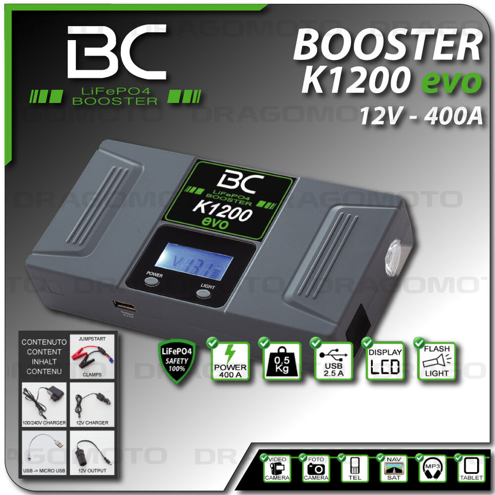 bc battery booster k1200 d marreur voiture moto portable batterie urgence ebay. Black Bedroom Furniture Sets. Home Design Ideas