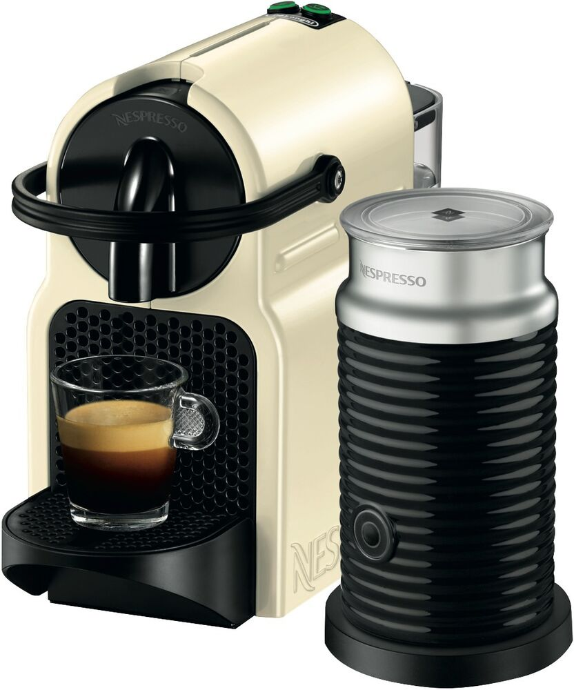 new nespresso en80cwae delonghi inissia capsule coffee machine cream ebay. Black Bedroom Furniture Sets. Home Design Ideas
