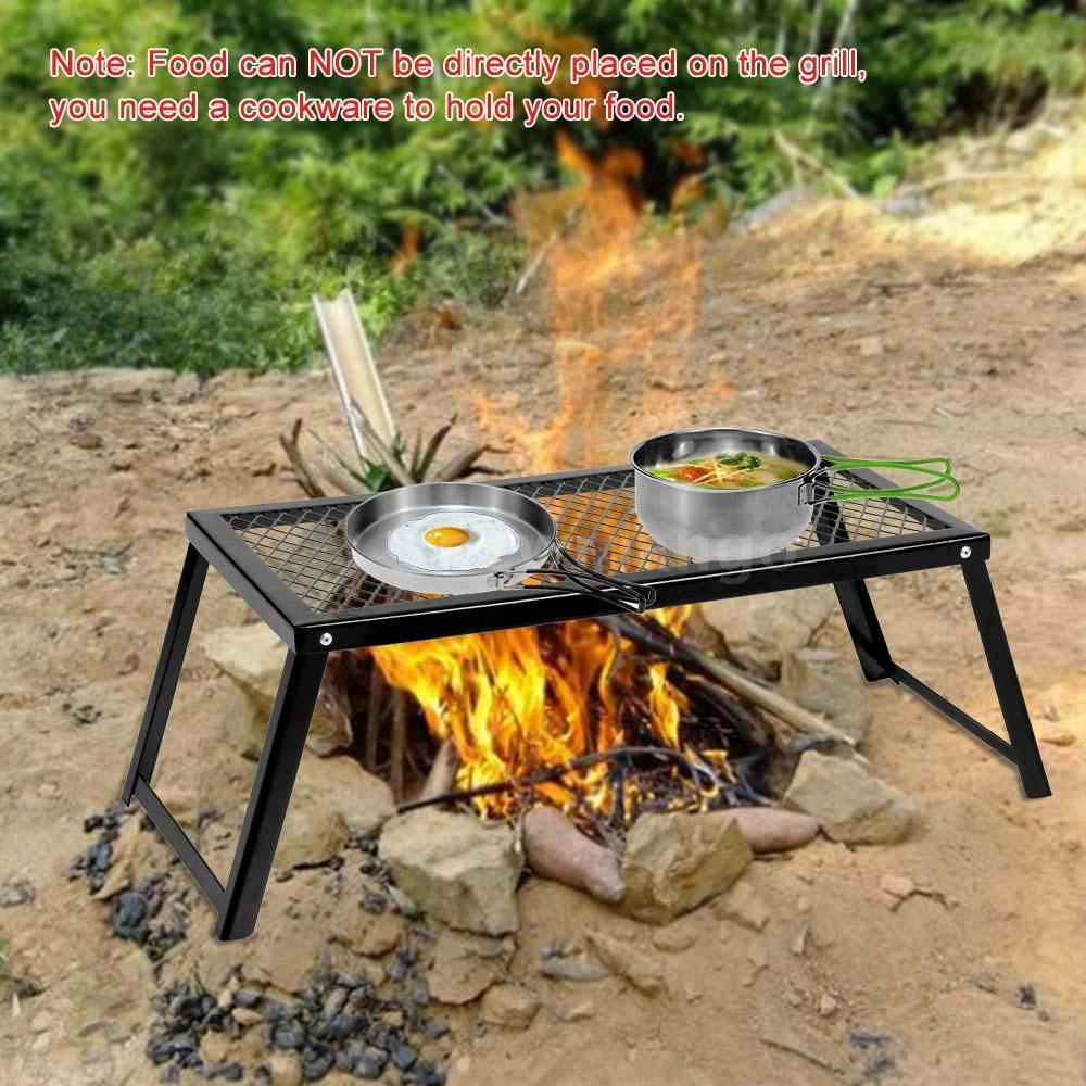 outdoor barbecue picnic heavy duty over fire camping grill. Black Bedroom Furniture Sets. Home Design Ideas