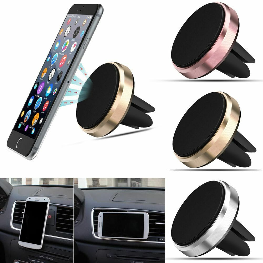 Universal Magnetic Car Air Vent Holder Stand Mount Cradle