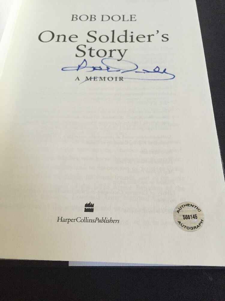 Signed 1st Edition One Soldiers Story A Memoir By Bob Dole