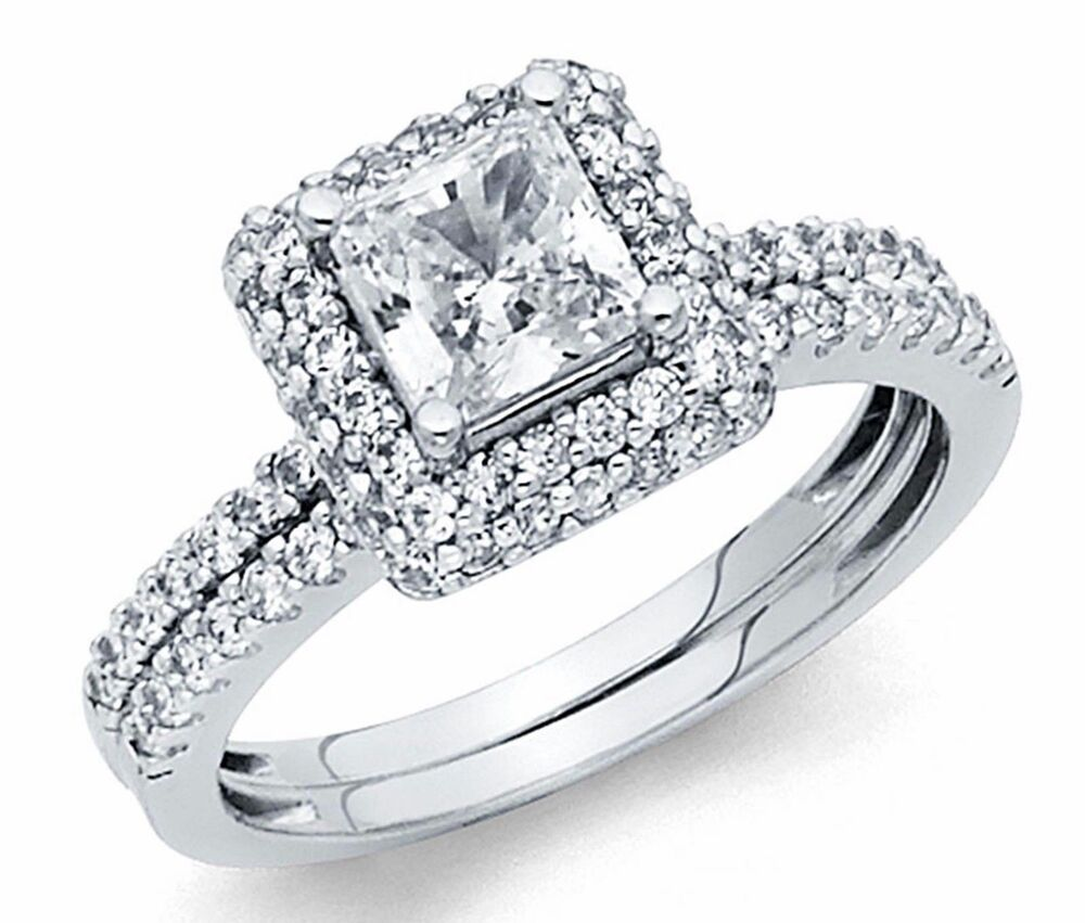 princess cut diamond wedding ring sets square princess cut engagement bridal ring band set lab 6801