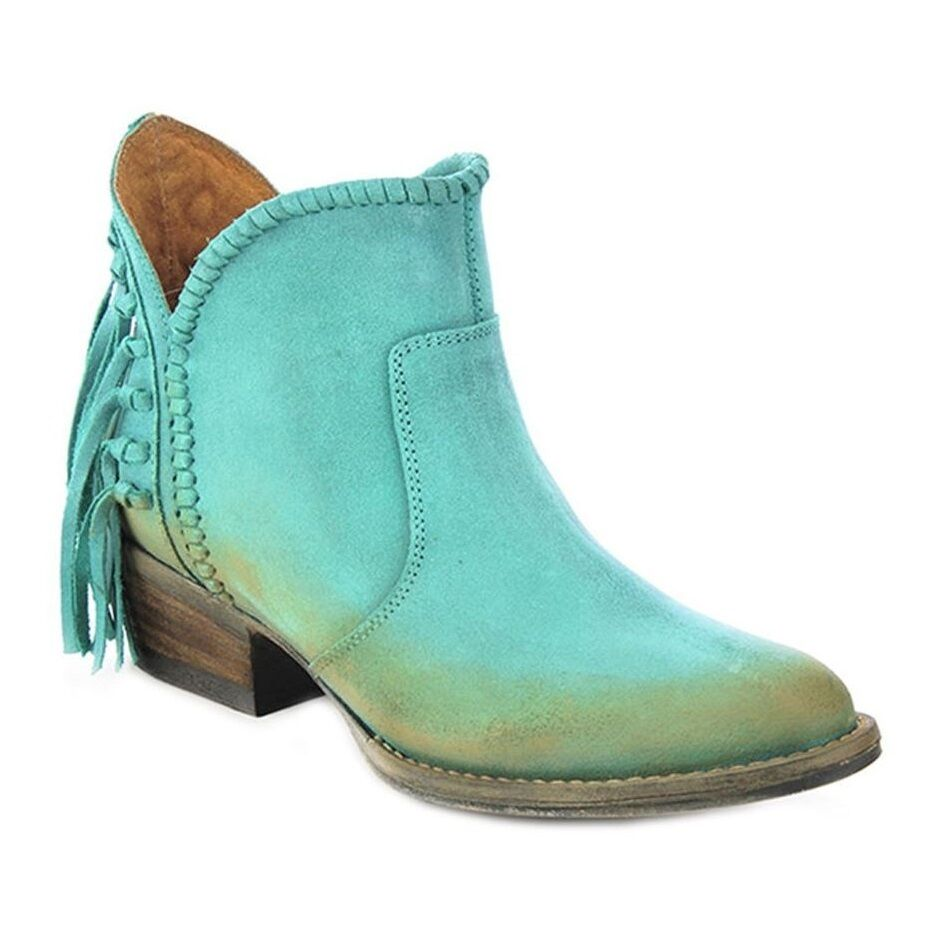 Womens Leather Shoes Turquoise