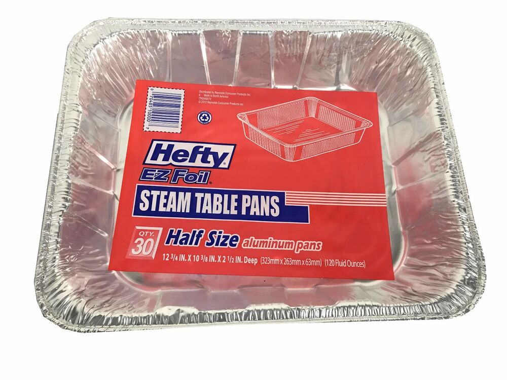 Hefty Ez Foil Steam Table Pan Half Size Aluminum Trays 30